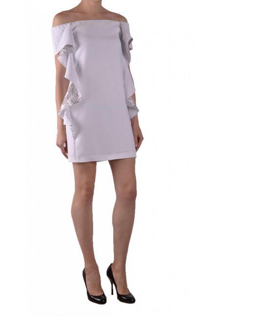 Pinko - White Dress - Lyst