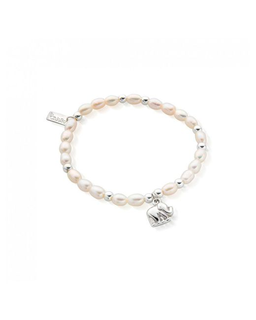 ChloBo - Metallic Mini Pearlelephant Charm Bracelet - Lyst