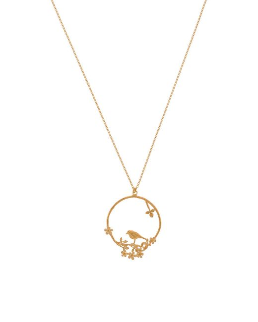 Alex Monroe | Metallic Moonstone Owl Loop Necklace | Lyst