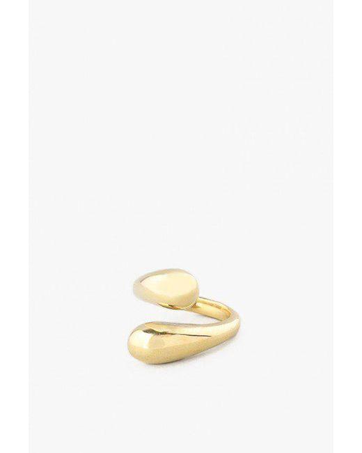 Soko | Metallic Twisted Dash Ring | Lyst