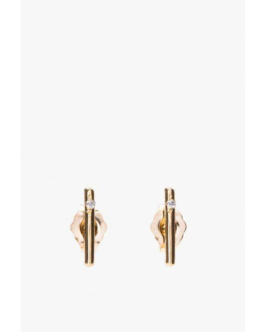 Loren Stewart | Metallic Small Rods Gold W/ Diamonds | Lyst