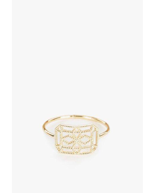 Grace Lee   Metallic Petite Lace Deco Ring Viii   Lyst