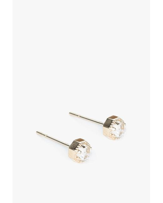 Grace Lee | Metallic Petite Crown Bezel Earrings | Lyst