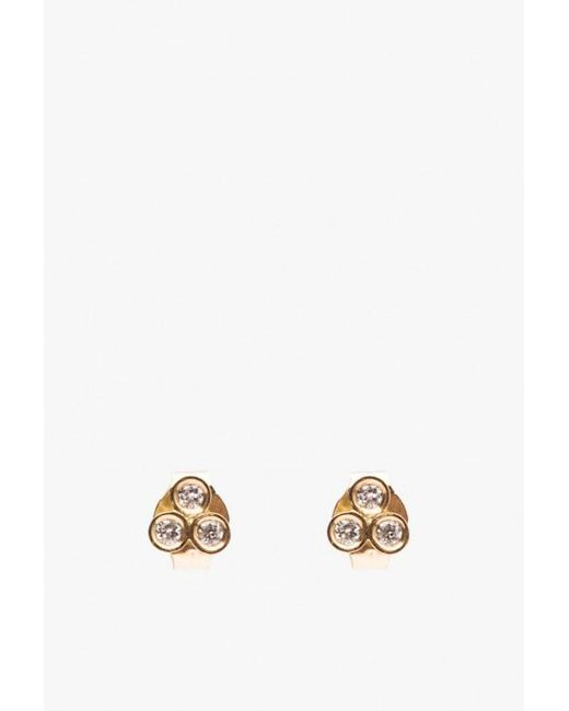 Ariel Gordon | Metallic Mini Diamond Triad Studs | Lyst