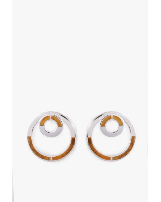 Pamela Love | Metallic Sterling Silver Quarter Earrings | Lyst