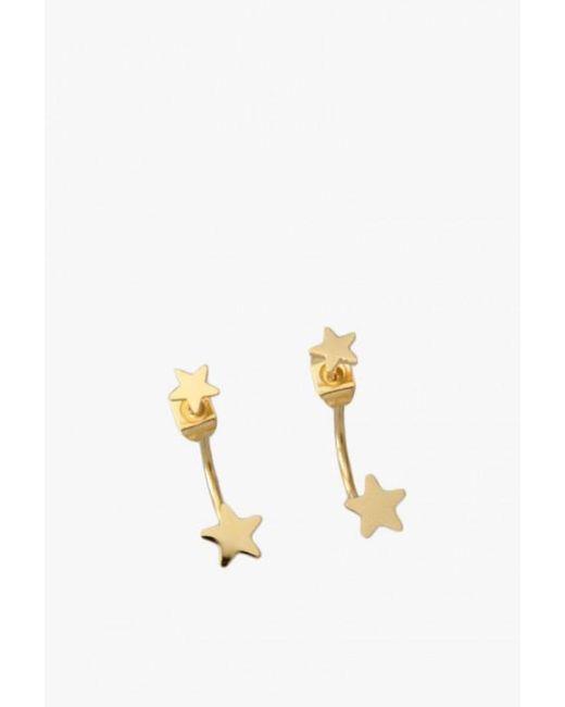 Seoul Little | Metallic Single Star Ear Jackets | Lyst