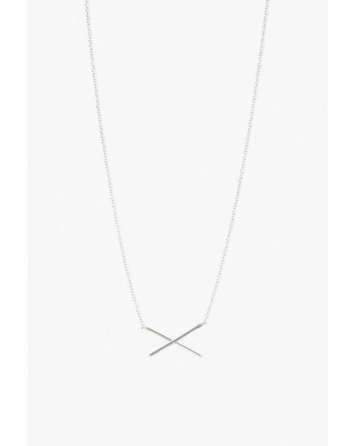 Gabriela Artigas   White X Necklace   Lyst