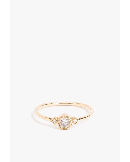 Jennie Kwon | Metallic Gray Diamond Sotto Voce Ring | Lyst