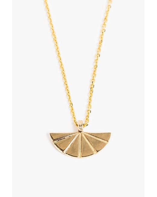 Jennie Kwon | Metallic Deco Fan Necklace | Lyst
