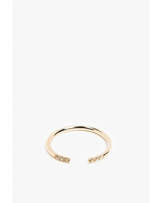 Jennie Kwon   Metallic White Equilibrium Cuff Ring   Lyst