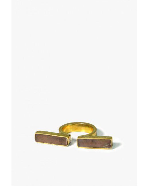 Soko - Yellow Horn Omega Ring - Lyst