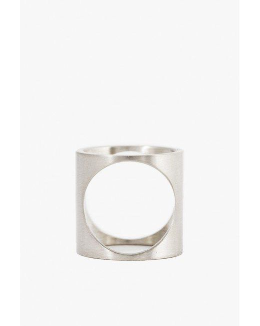 Marmol Radziner | White Lightweight 2 Way Circle Ring | Lyst