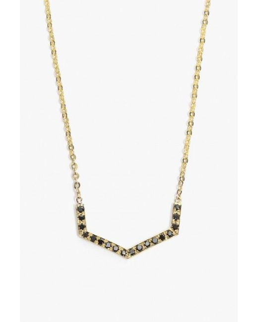 Jennie Kwon | Metallic Diamond Chevron Necklace | Lyst