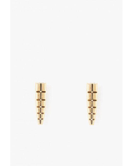Nicole Romano - Metallic Keystone Earrings - Lyst