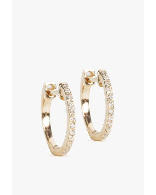 Ariel Gordon | Metallic 14k Pave Huggie Earrings | Lyst