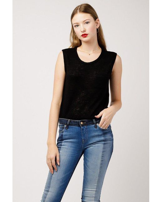 Azalea - Black Misa Pocket Muscle Tee - Lyst