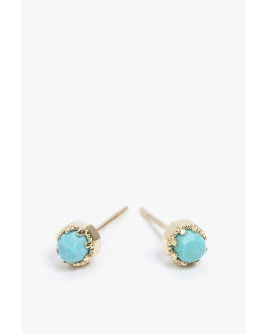 Grace Lee | Multicolor Petite Crown Bezel Earrings | Lyst