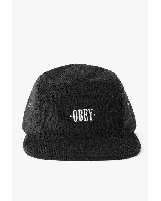 Obey - Black Journeyman 5panel Hat for Men - Lyst