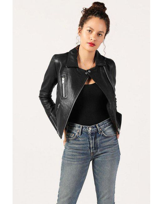 Doma Leather - Gray Classic Moto Jacket - Lyst