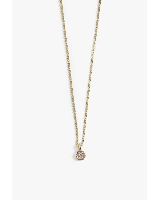 Jennie Kwon | Yellow Dia Hex Necklace | Lyst