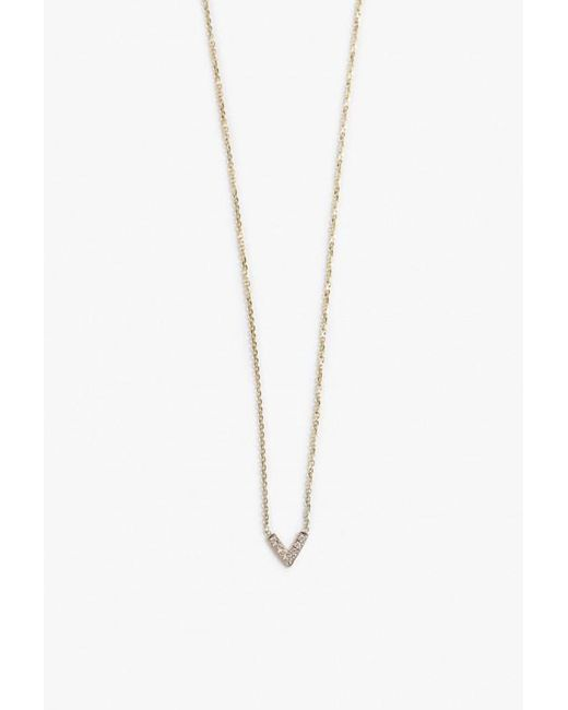 Jennie Kwon | Metallic Diamond V Necklace | Lyst