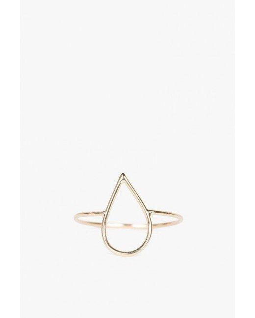 Ariel Gordon   Metallic Delicate Silhouette Ring   Lyst
