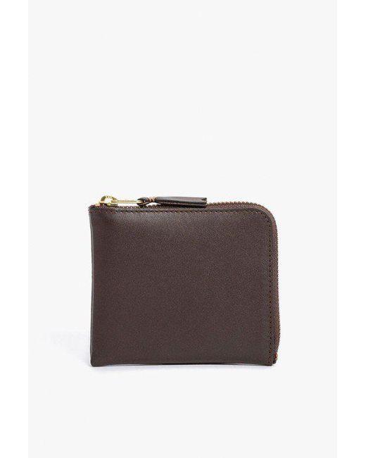 Comme des Garçons - Brown Half Zip Wallet - Lyst
