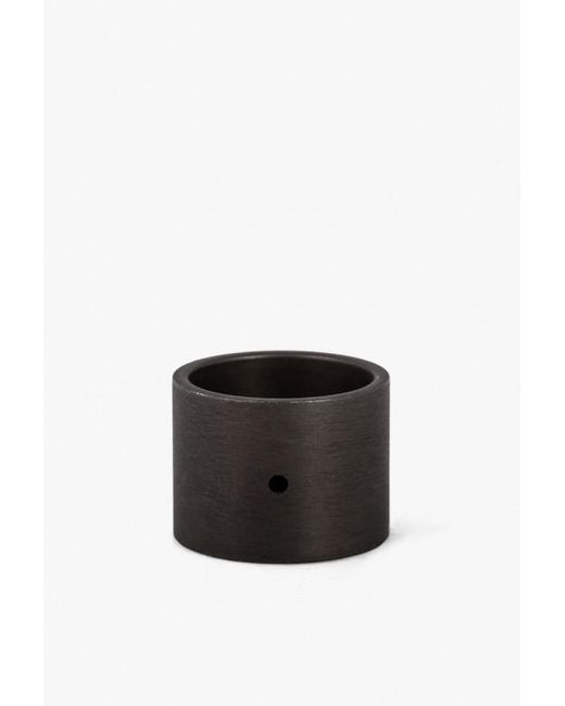 Marmol Radziner | Black Lw Solid Double Wide Ring | Lyst