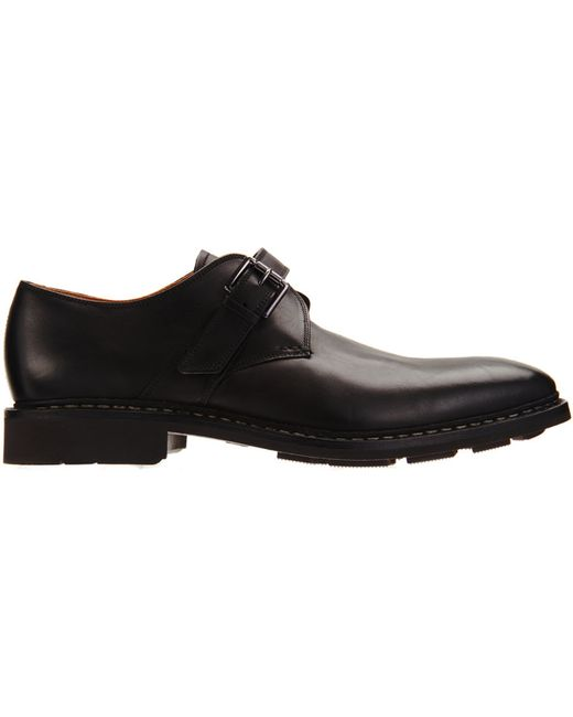 Heschung | Black Noyer Leather Monk Shoes for Men | Lyst