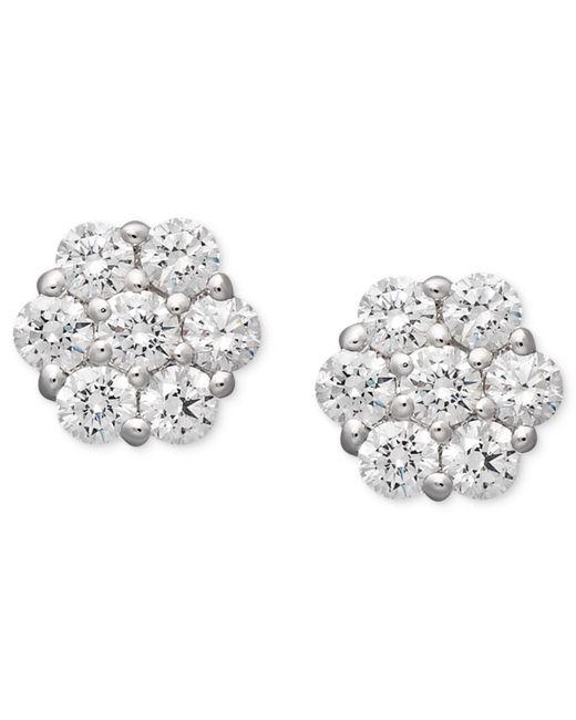Arabella | White Swarovski Zirconia Cluster Stud Earrings (1-5/8 Ct. T.w.) | Lyst