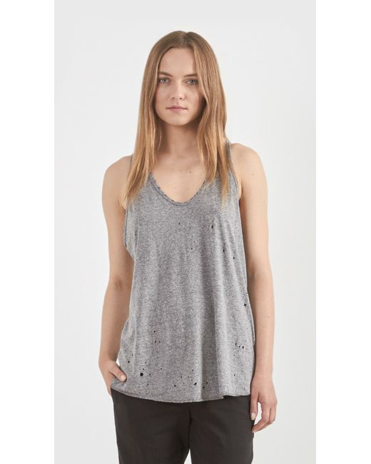 Constructed from super soft sueded cotton jersey, the Distressed Tank from Alo Yoga boasts low armholes, raw edges and distressed details, while a lightweight, relaxed silhouette makes it .