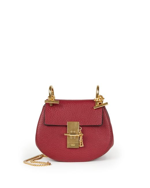 Chloé | Purple Drew Nano Leather Cross-Body Bag | Lyst