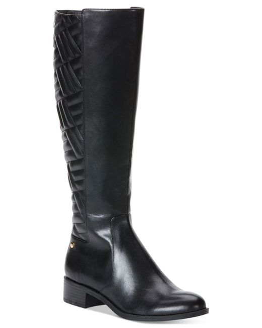 Fantastic  Kors Arley Riding Boot Women Leather Black Knee High Boot Boots