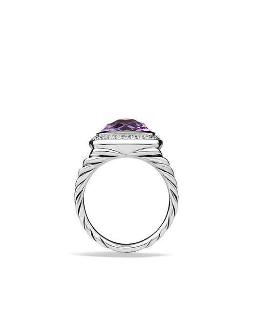 David Yurman | Purple Albion Ring With Amethyst And Diamonds, 11mm | Lyst
