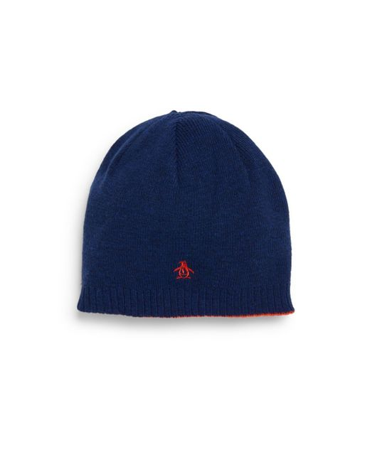 Original Penguin | Blue Reversible Beanie for Men | Lyst