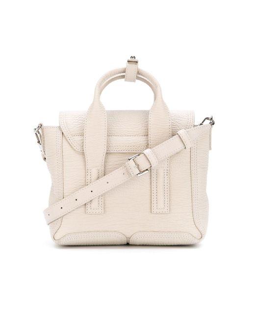 3.1 Phillip Lim   White Mini Pashli Leather Shoulder Bag   Lyst