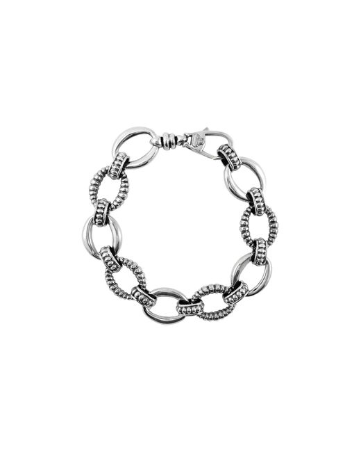 Lagos | Metallic Oval Link Sterling Silver Bracelet | Lyst