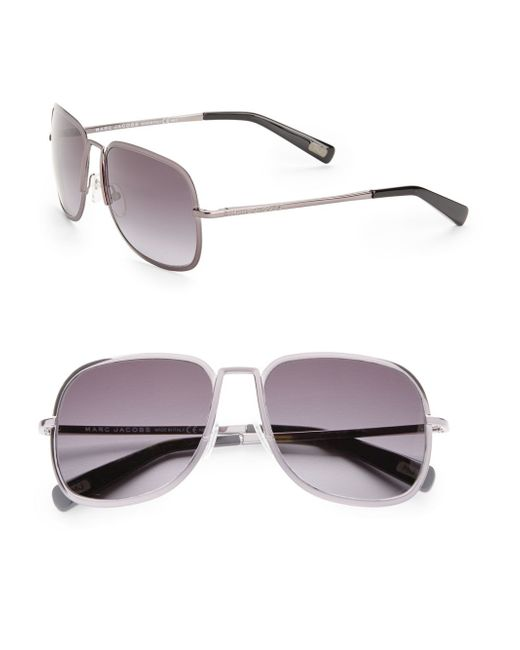 Marc Jacobs | Metallic 57mm Square Sunglasses | Lyst