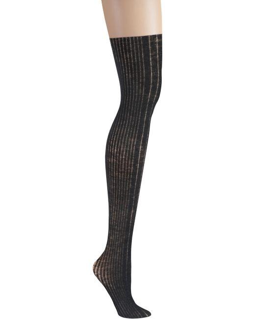 DKNY | Black Rib Knit Over The Knee Sock | Lyst