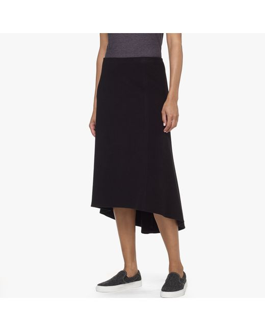James Perse | Black Soft Knit Flare Skirt | Lyst