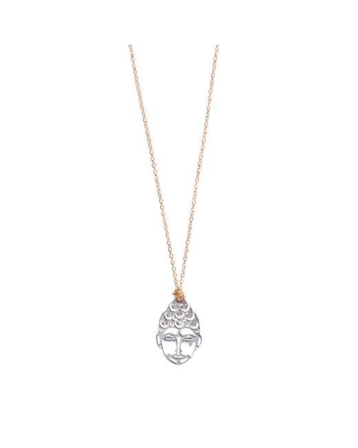 Ginette NY | Pink Mini Buddha Diamsdiamond Necklace | Lyst