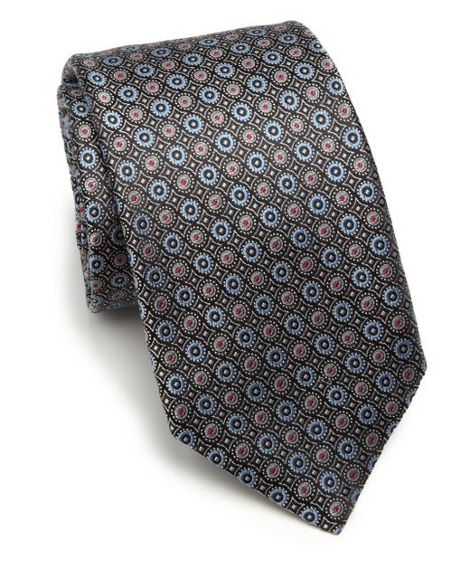 Saks Fifth Avenue | Black Circle Silk Tie for Men | Lyst