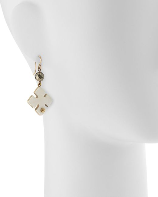 Ashley Pittman | Metallic Vidogo Light Horn Clover Drop Earrings | Lyst