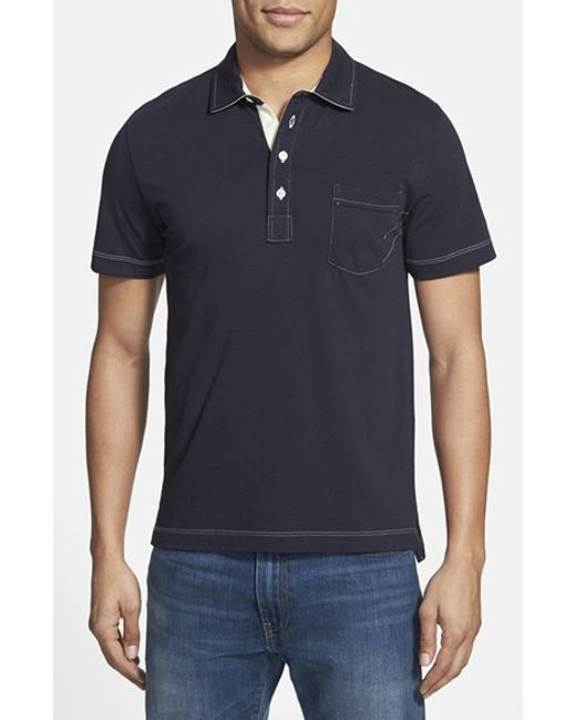Billy Reid | Blue 'pensacola' Trim Fit Polo for Men | Lyst
