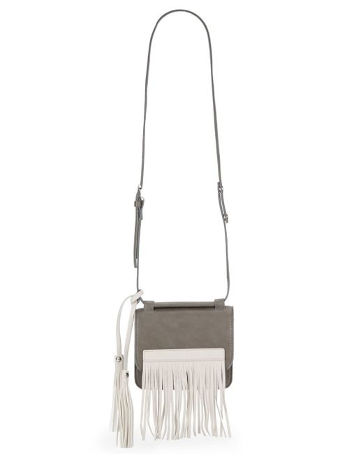 Urban Originals | Gray Freedom Fringe Faux Leather Convertible Clutch | Lyst