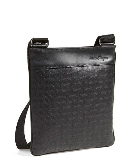 Ferragamo   Black 'gamma' Shoulder Bag for Men   Lyst