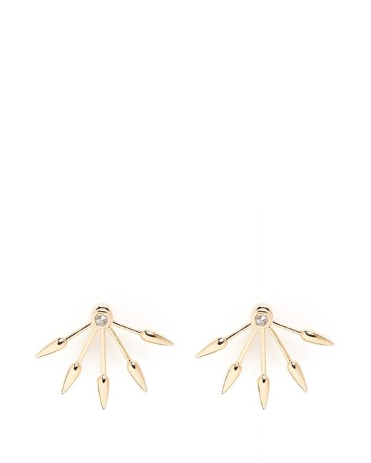 Pamela Love | Metallic 5 Spike' Diamond 18k Yellow Gold Fan Earrings | Lyst