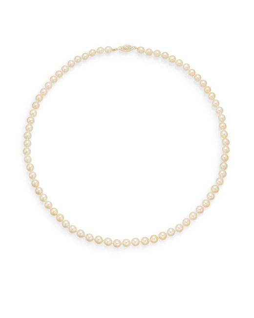 Saks Fifth Avenue | Metallic 6mm-6.5mm Golden Round Akoya Pearl Strand Necklace/17.5"