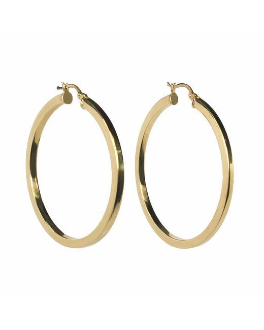 Talia Naomi | Metallic Khaleesi Squared Hooped Earrings Gold | Lyst