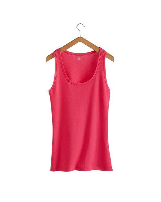 Petit Bateau | Red Women's Loose Cotton Vest Top | Lyst
